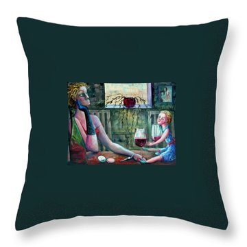 Girls Party Throw Pillow by Elisheva Nesis