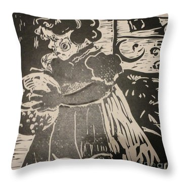 Girl's Play Throw Pillow by PainterArtist FINs husband Maestro