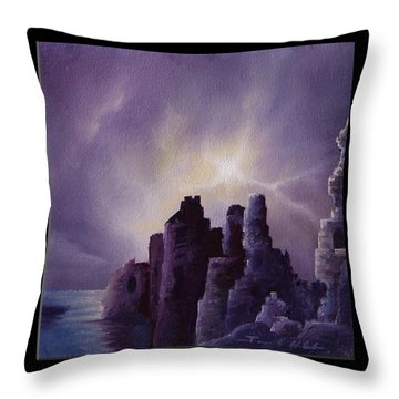 Girnigoe Castle Throw Pillow