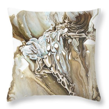 Give Throw Pillow by Karina Llergo