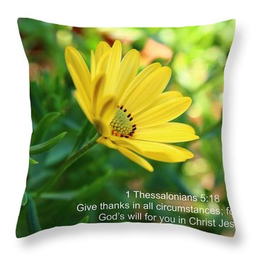 Give Thanks Throw Pillow by Lynn Hopwood