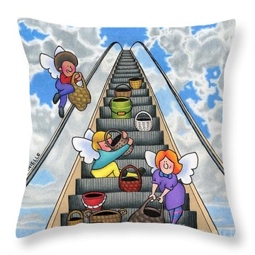 Give Your Worries To God Throw Pillow