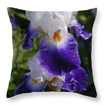 Giverny Iris Throw Pillow