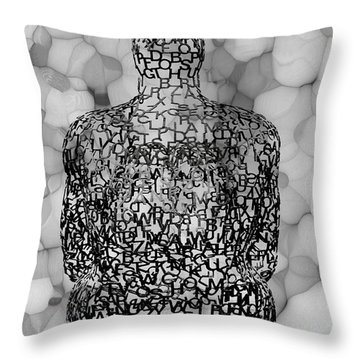 Giving Thought B / W Throw Pillow