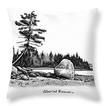 Glacial Erratic Throw Pillow