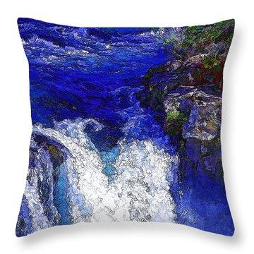 Glacial Flow-2 Throw Pillow
