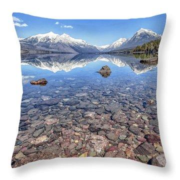 Glacial Lake Mcdonald Throw Pillow