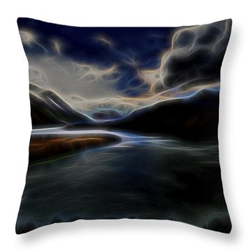 Throw Pillow featuring the digital art Glacial Light 1 by William Horden