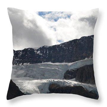 Glacial Mountain Throw Pillow