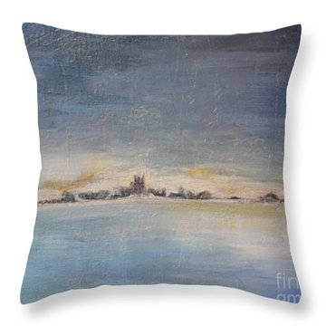 Throw Pillow featuring the painting Glacial Perspective by Lori Jacobus-Crawford