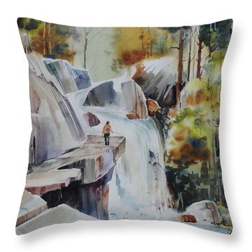 Glacial Quarries Throw Pillow