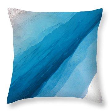 Glacial Rift Throw Pillow