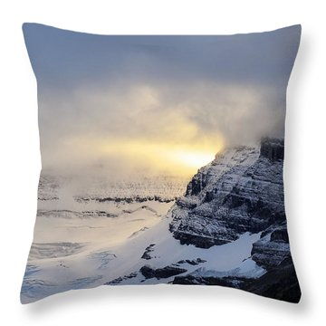 Glacier Above Lake Louise Alberta Canada Throw Pillow