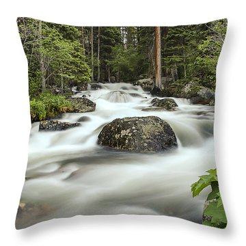 Glacier Creek Throw Pillow