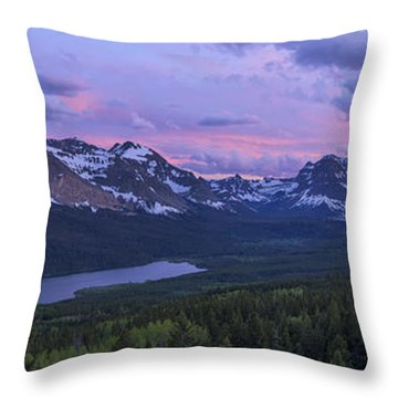 Glacier Glow Throw Pillow