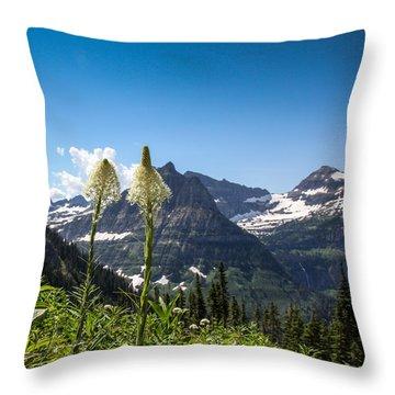 Glacier Grass Throw Pillow