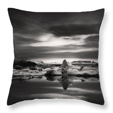 Glacier Lagoon Throw Pillow by Frodi Brinks