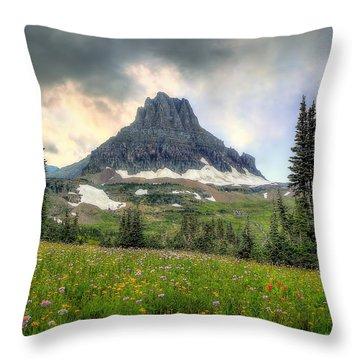 Glacier Meadows Throw Pillow
