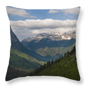 Glacier National Park Throw Pillow by John Shaw
