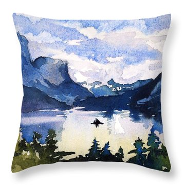 Glacier National Park Throw Pillow by Spencer Meagher