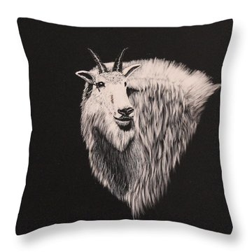 Glacier Park Goat Throw Pillow