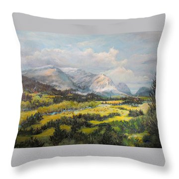 Glacier Splendor Throw Pillow