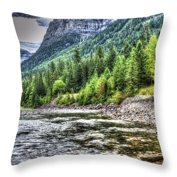 Glacier Stream Throw Pillow