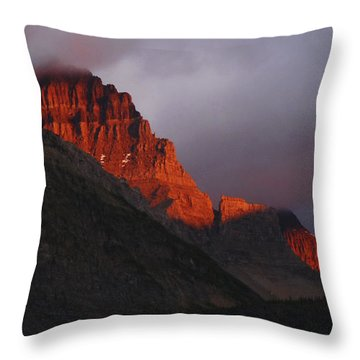 Throw Pillow featuring the photograph Glacier Sunrise by Alan Socolik