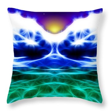 Glacier Sunset Throw Pillow by Stephen Younts