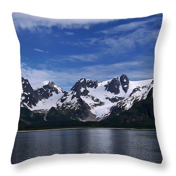 Glacier View Throw Pillow
