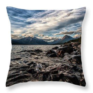 Glacier Whispers Throw Pillow