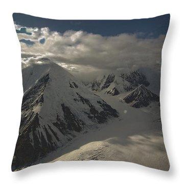 Glaciers Galore Throw Pillow by David Kehrli