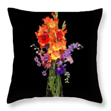 Glad Vase Throw Pillow