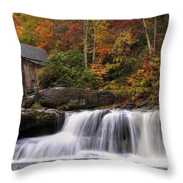 Glade Creek Grist Mill - Photo Throw Pillow by Chris Flees