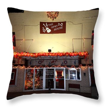 Gladewater Opry House Throw Pillow by Kathy  White