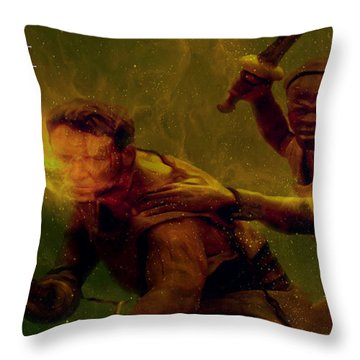Throw Pillow featuring the photograph Gladiator  by Brian Reaves