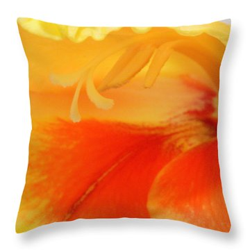 Gladiola Hello Throw Pillow