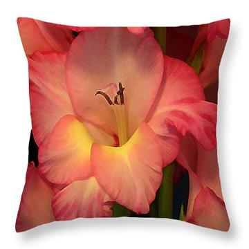 Gladiolus  Throw Pillow by Annlynn Ward