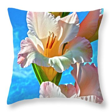 Gladiolus Throw Pillow