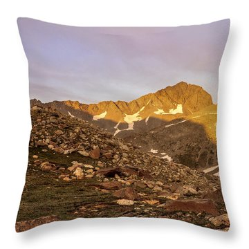 Gladstone Peak Throw Pillow by Aaron Spong