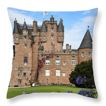 Glamis Castle Throw Pillow