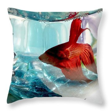 Glamor Rudy Throw Pillow by Valerie Reeves