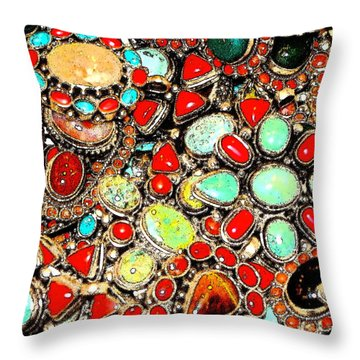 Throw Pillow featuring the photograph Glamorous Glitter by Ira Shander