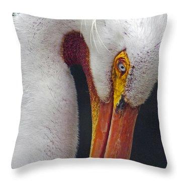 Glamorous White Throw Pillow