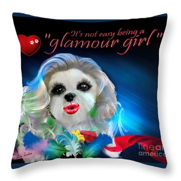 Glamour Girl-3 Throw Pillow