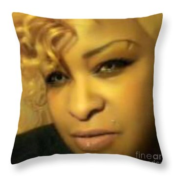 Throw Pillow featuring the digital art Glamour Girl by Gayle Price Thomas