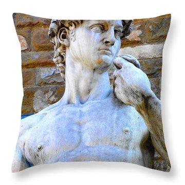 Glance At David Throw Pillow