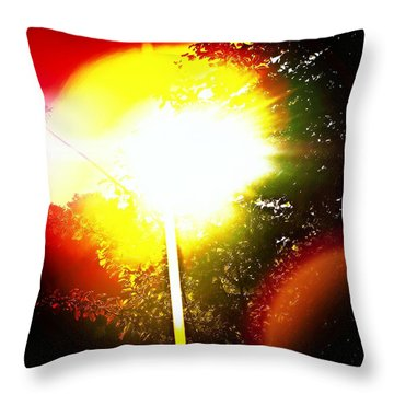 Glare Throw Pillow by Jason Michael Roust