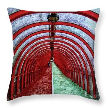 Glasgow Arcs Painting Throw Pillow by Antony McAulay
