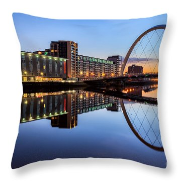Glasgow Clyde Arc  Throw Pillow by John Farnan